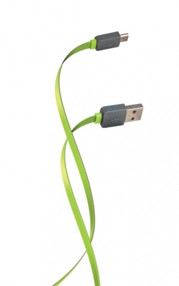 USB кабель Florence Color microUSB 1 м 2 A Lime green (FDC-M1-2L)