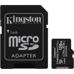 Карта пам'яті Kingston 128GB microSDXC Canvas Select Plus 100R A1 C10 + SD адаптер (SDCS2/128GB)