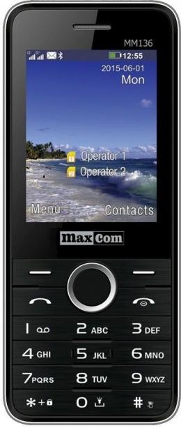 Мобільний телефон Maxcom MM136 Black-SIlver