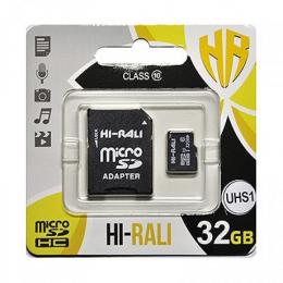 Карта пам'яті Hi-Rali 32 GB microSDHC class 10 UHS-I + SD Adapter HI-32GBSD10U1-01